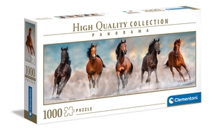 Horses – 1000 piezas – Clementoni – High Quality Collection – Panorama – Ref 39607